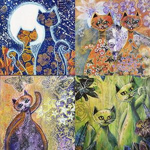 Måla fantasifulla katter på olika sätt