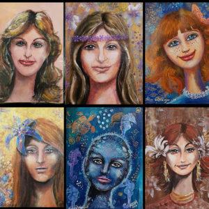 Lär dig att måla porträtt på olika sätt